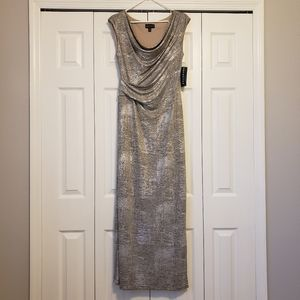 Connected Silver Formal dress skirt Size 8